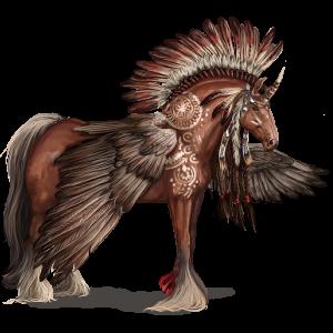 Gevleugelde trekpaard-eenhoorn Shire Zwart