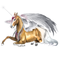 Winged riding unicorn Vanner Black