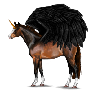 Winged riding unicorn Quarter Horse Chestnut