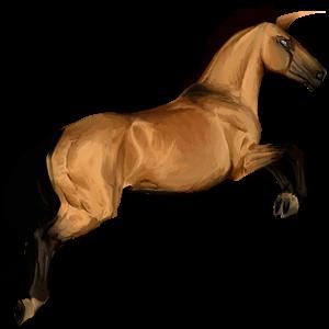 Riding unicorn Holsteiner Liver chestnut