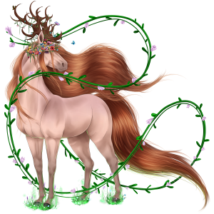 Riding unicorn Arabian Horse Liver chestnut