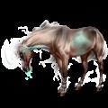 Riding unicorn Marwari Cremello Tobiano