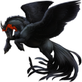 Winged draft unicorn Black