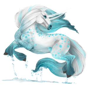 Draft unicorn Shire Light Gray