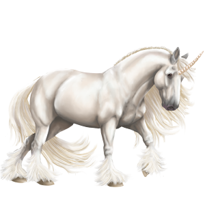 Draft unicorn Percheron Dapple Gray