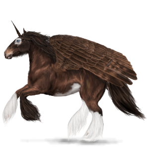Winged draft unicorn Shire Black