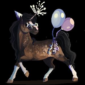Unicorn pony Shetland Cherry bay
