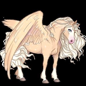 Pony-pegasus Welsh Lichtgrijs
