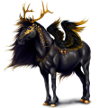 Winged unicorn pony  Belgian Riding Pony Roan