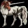 Riding unicorn Fleabitten Gray