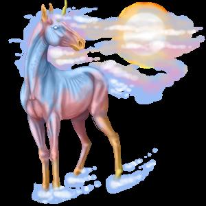 Riding unicorn Icelandic Horse Cremello
