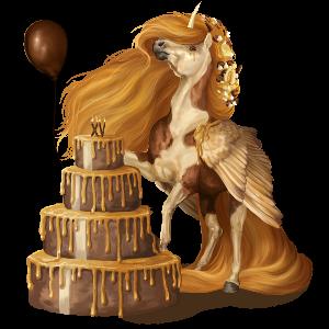 Winged unicorn pony  Shetland Flaxen Liver chestnut