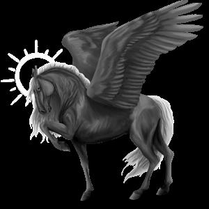 Riding pegasus Thoroughbred Light Gray