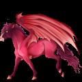 Poney pégase Quarter Pony Palomino