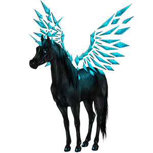 Winged riding unicorn Lusitano Dapple Gray