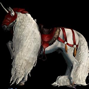Riding unicorn Purebred Spanish Horse Light Gray
