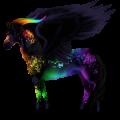Winged unicorn pony  Liver chestnut