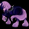 Cheval de trait Drum Horse Pie Noir Tobiano