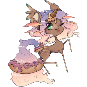 Winged unicorn pony  Australian Pony Liver chestnut
