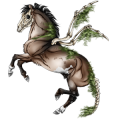 Riding pegasus Quarter Horse Dun
