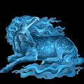 Rijpaard-eenhoorn Shagya Arabier Gestippeld grijs