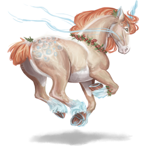 Licorne de trait Shire Noir