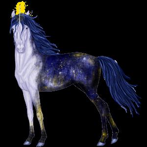 Riding unicorn Selle Français Flaxen Chestnut