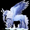 Winged riding unicorn French Trotter Dark Bay