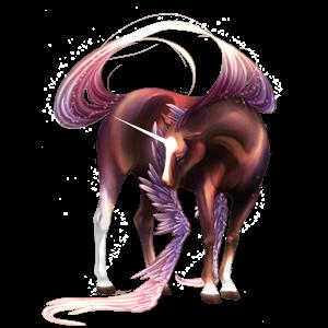 Winged unicorn pony  New forest Bay