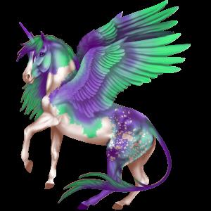 Winged unicorn pony  Highland Pony Black
