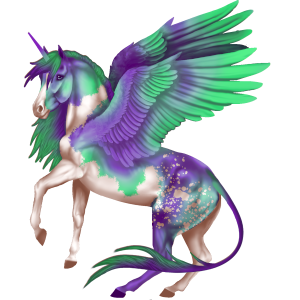 Winged unicorn pony  Australian Pony Light Gray