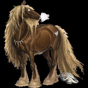 Draft horse Drum Horse Bay Tobiano