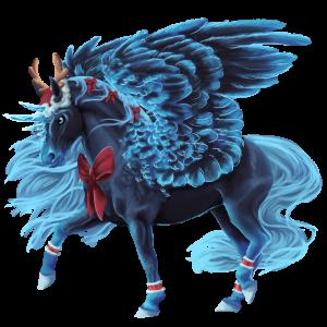 Winged unicorn pony  Kerry Bog Bay Tobiano