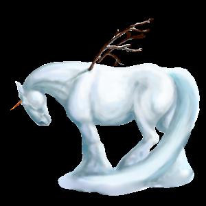Winged draft unicorn Percheron Black