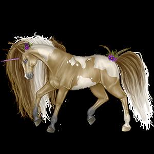 Riding unicorn Shagya Arabian Fleabitten Grey