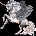 Poney licorne ailé Aubère