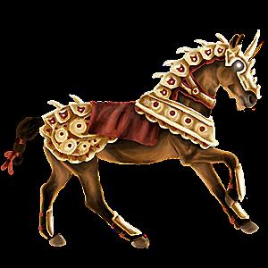 Riding unicorn Lusitano Bay