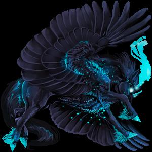 Winged draught unicorn Percheron Dapple Grey