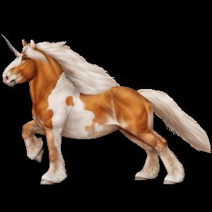 Draft unicorn Drum Horse Black Tovero