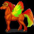 Gevleugelde trekpaard-eenhoorn Drum Horse Muisgrijs