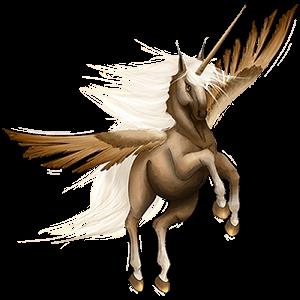 Winged riding unicorn Holsteiner Dapple Gray