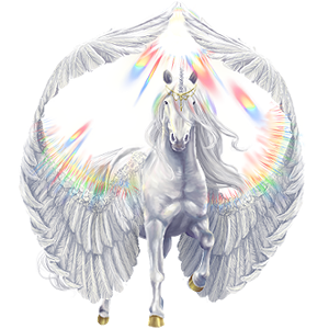 Winged unicorn pony  Australian Pony Dapple Gray
