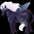 Licorne de trait ailée Shire Gris Clair