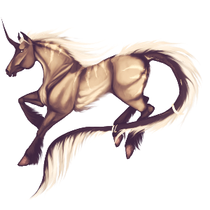 Riding unicorn Thoroughbred Palomino