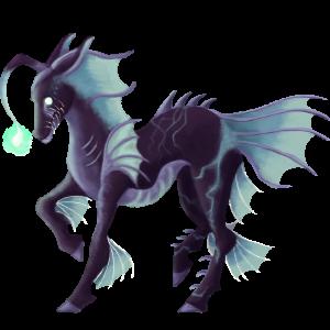 Riding unicorn Thoroughbred Black