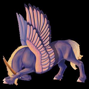 Winged unicorn pony  Connemara Liver chestnut