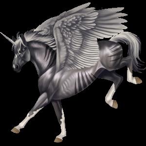 Winged riding unicorn Arabian Horse Flaxen Chestnut