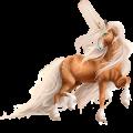 Riding unicorn Marwari Flaxen Chestnut