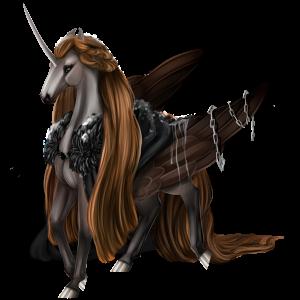 Winged riding unicorn Purebred Spanish Horse Palomino