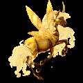 Winged riding unicorn Akhal-Teke Chestnut
